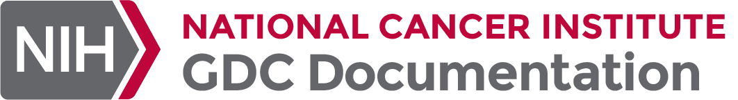 NIH National Cancer Institute GDC Documentation